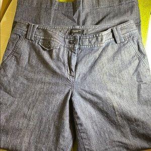 Talbots Signature Flare Denim Trousers